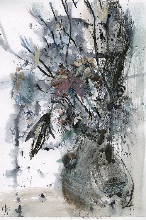 November Flowers - original artwork