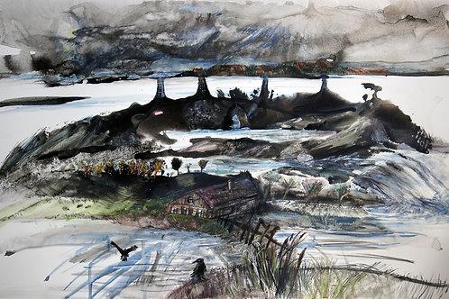 Silent landscape. Carr! - original painting