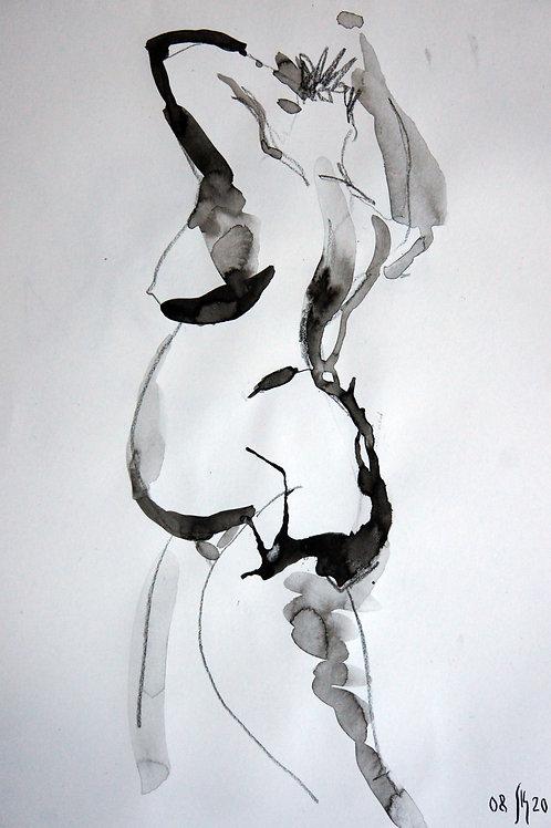 Anna nude female #20146 - original figurative sketch