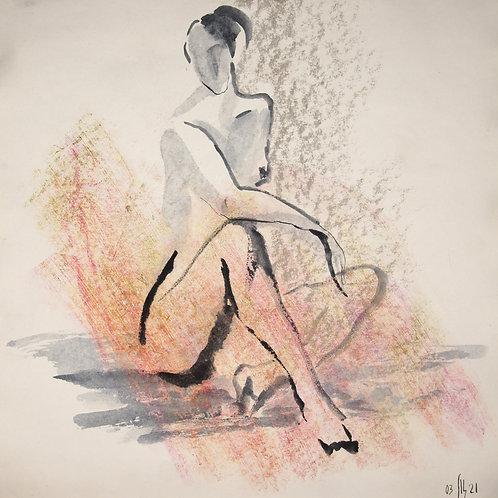Susanna. Nude art №21118 - figurative sketch