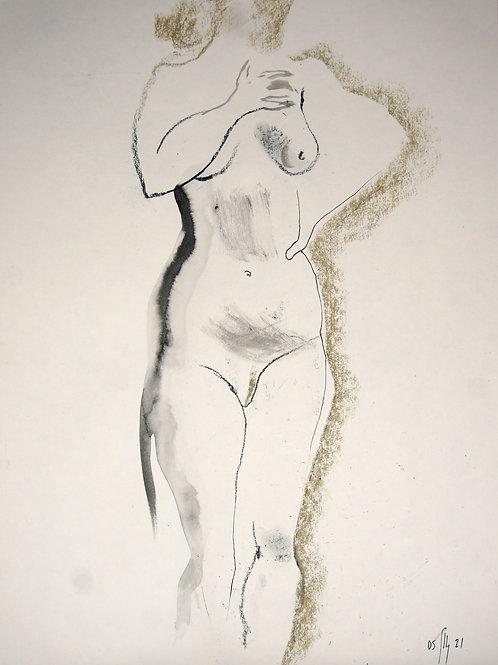 Vika. Nude art №21184 - original figurative sketch