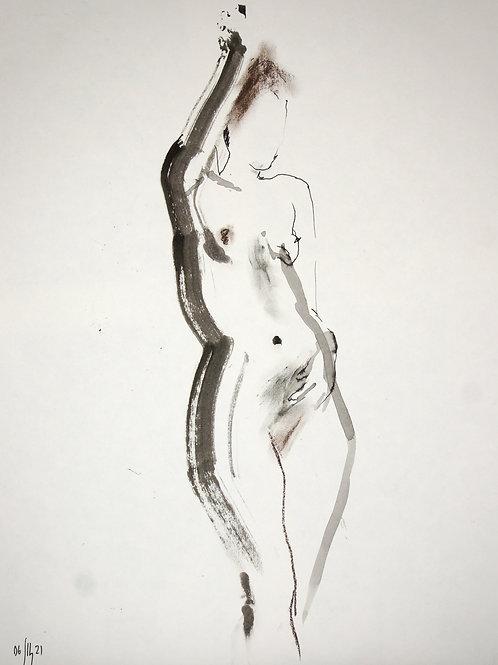 Vera. Nude art №21194 - original figurative sketch