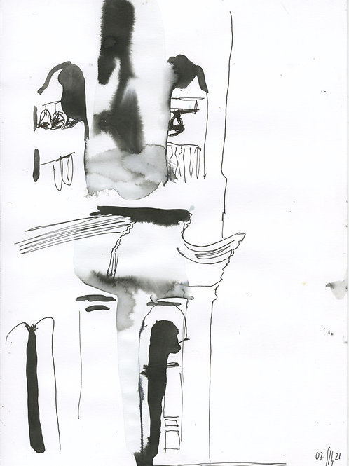 6-7 linia Saint-Petersburg - original urban sketch 21258