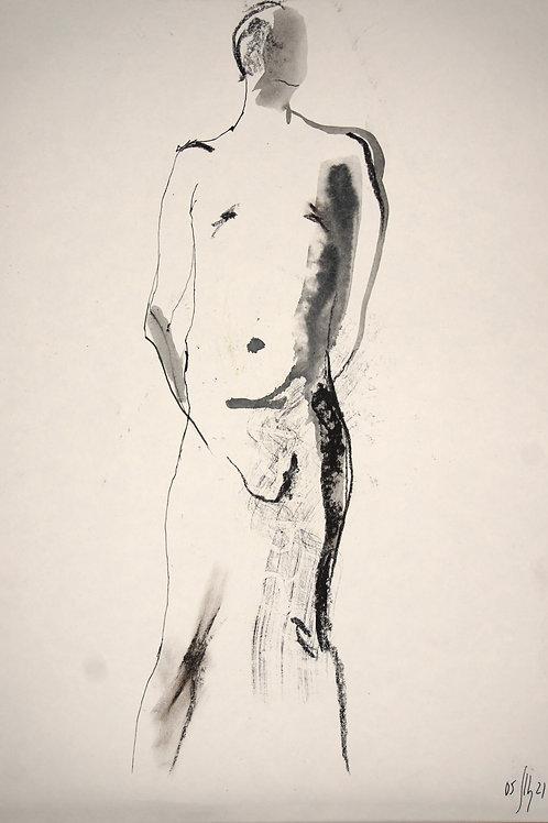 Maxim. Nude art №21170 - original figurative sketch