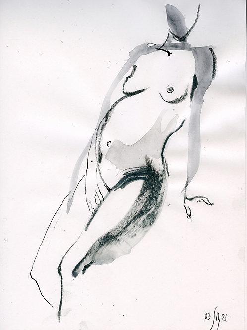 Vika. Nude art #2193 - original artwork