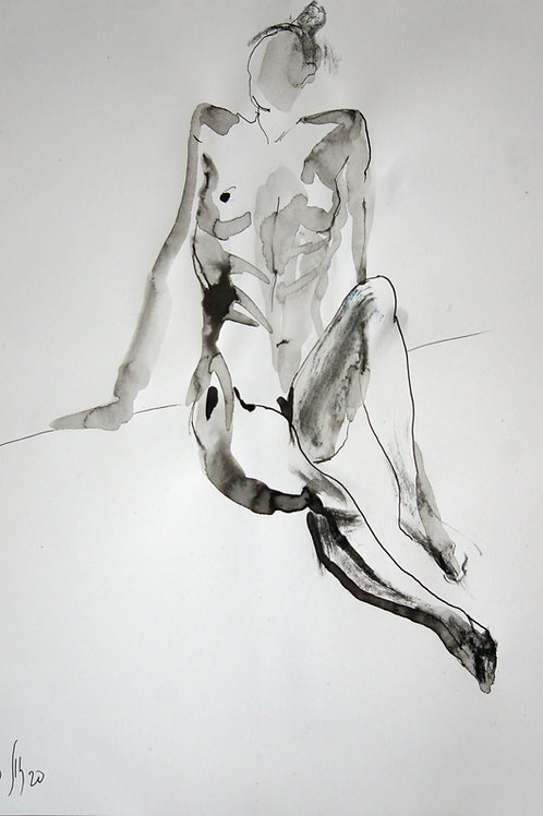 Nastya. Nude №20194 - original graphic artwork