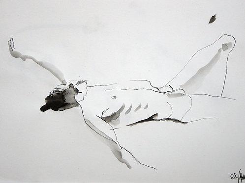 Hanan nude male №20159 - original graphic artwork