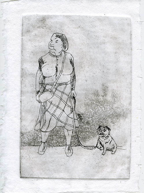 Close to each other #6 - 1 (etching)