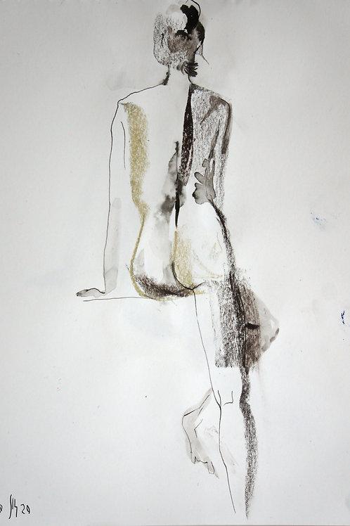 Nastya. Nude №20193 - original female figurative sketch