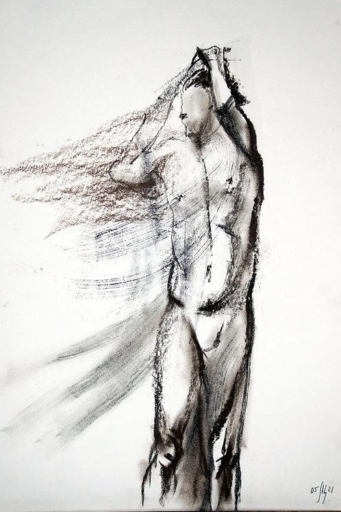 Maxim. Nude art №21162 - original figurative sketch