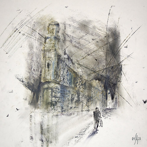 The road to the Temple - original genre artwork