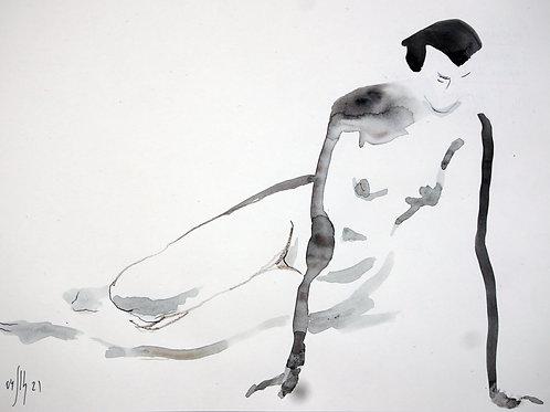 Susanna. Nude art №21145 - original figurative sketch