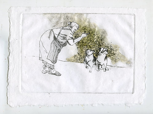 Close to each other #3 - 2 (etching)