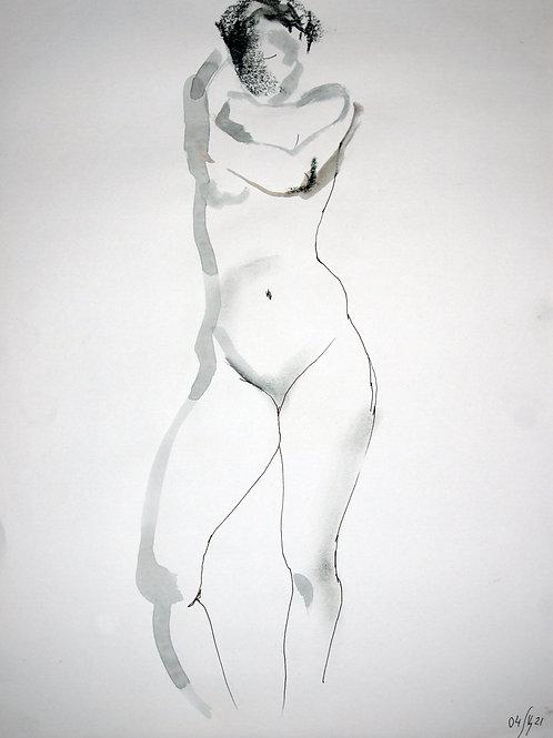 Susanna. Nude art №21139 - original figurative sketch