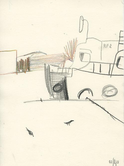 Schmidt Embankment - 5 minute sketch 21254