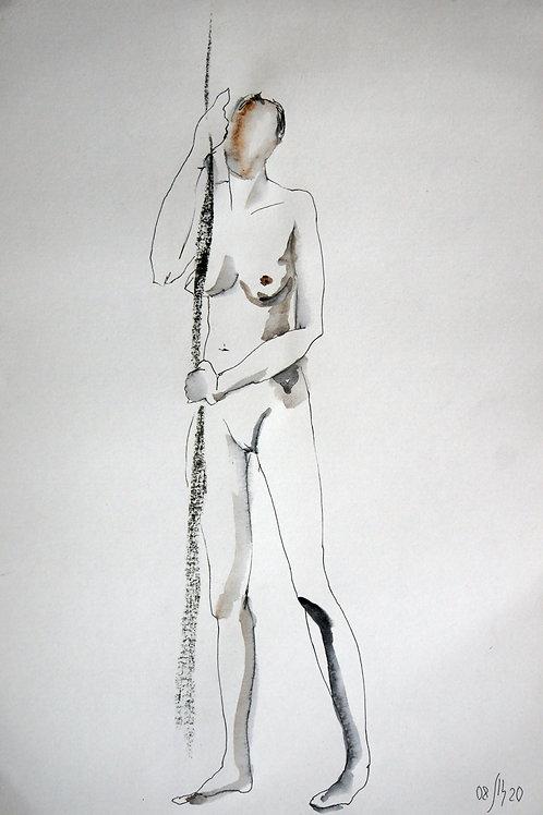 Elena. Nude #20172 female model - original graphic artwork