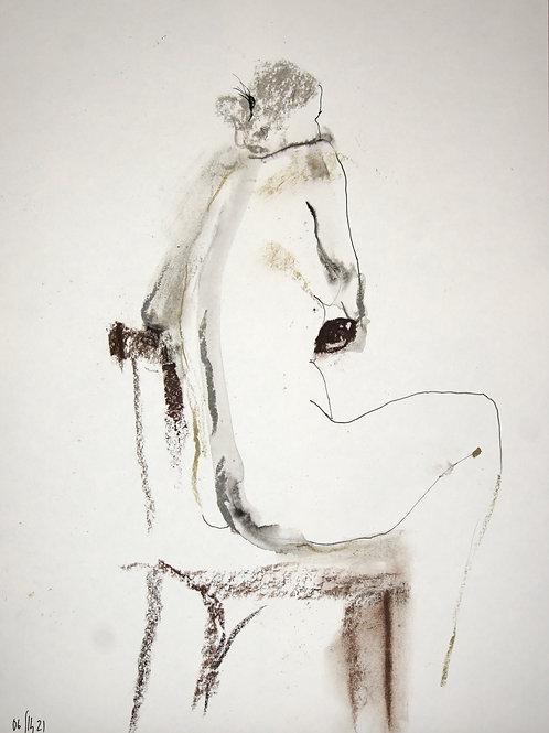 Vera. Nude art №21196 - original figurative sketch