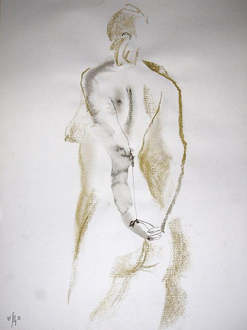Vika. Nude art №21176 - original figurative sketch