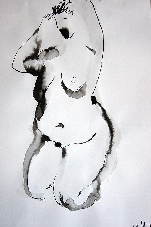 Anna nude female #20147 - original graphic artwork