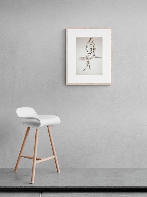 Sasha. Nude art №21214 - original figurative sketch