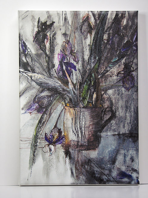 ART PRINT: These are our flowers - irises
