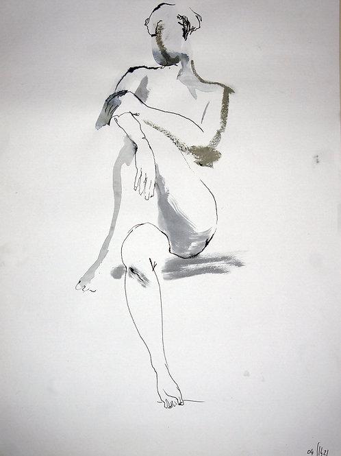 Susanna. Nude art №21140 - original figurative sketch
