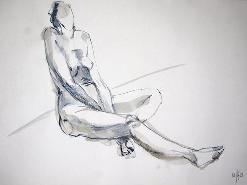 Vera. Nude art №21205 - original figurative sketch
