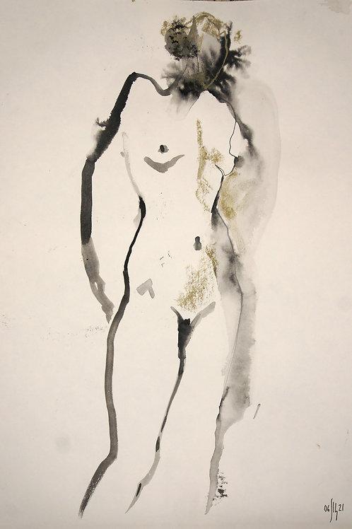 Vera. Nude art №21192 - original figurative sketch