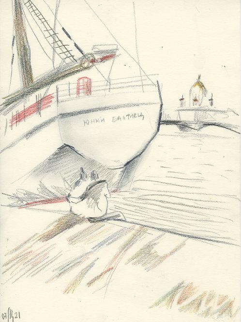 Schmidt Embankment - 5 minute sketch 21246