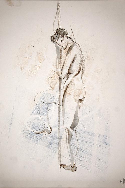 Susanna. Nude art №21136 - original figurative sketch