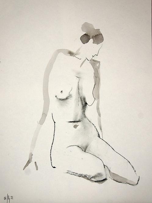 Vera. Nude art №21193 - original figurative sketch