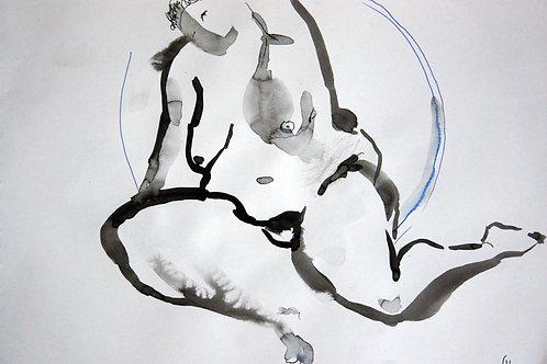 Anna nude female #20152 - original graphic artwork