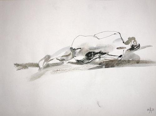 Susanna. Nude art №21138 - original figurative sketch