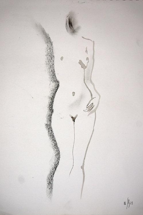 Vera. Nude art №21201 - original figurative sketch