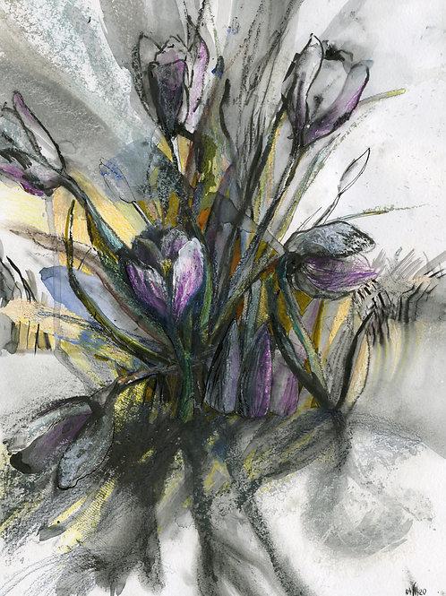 These are our flowers (crocus) - original genre artwork