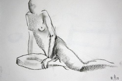 Elena. Nude #20174 female model - original figurative sketch art