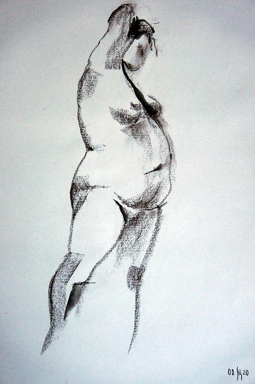 Anna nude female #20139 - original graphic artwork