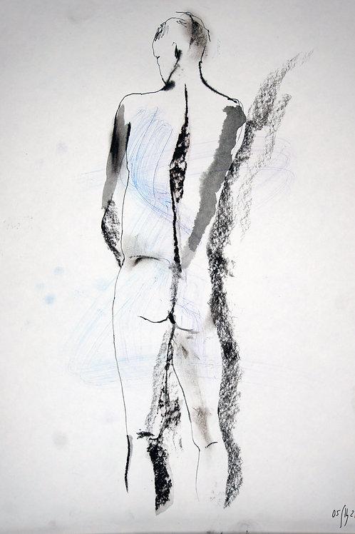 Maxim. Nude art №21163 - original figurative sketch