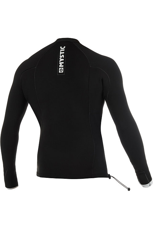 MYSTIC MENS MAJESTIC 1.5MM LONG SLEEVE NEOPRENE TOP BLACK - (Donation)