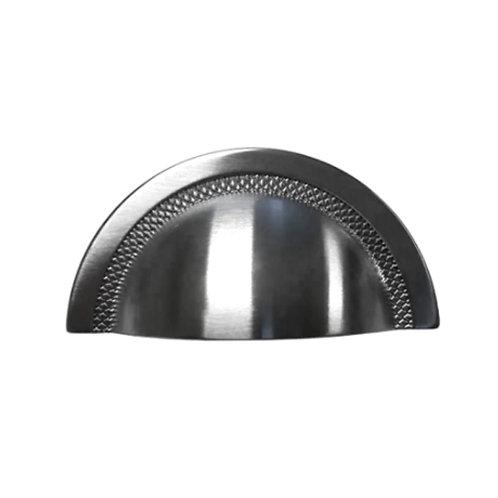 Puxador Zen Shell 48mm Níquel Escovado Verniz