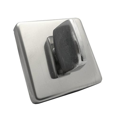 Tranqueta Banheiro Polida Inox Quadrada R0091