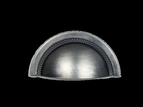 Puxador Zen Shell 48mm Cromo Acetinado
