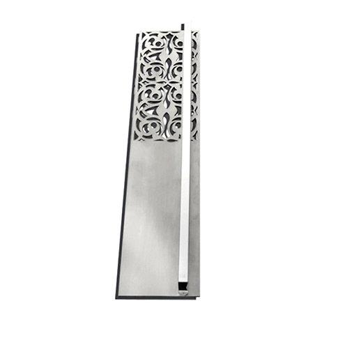 Puxador Belle Epoque Quadrado Escovado/Cromado 320mm