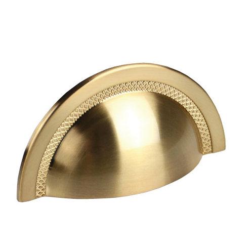 Puxador Zen Shell 48mm Gold Escovado