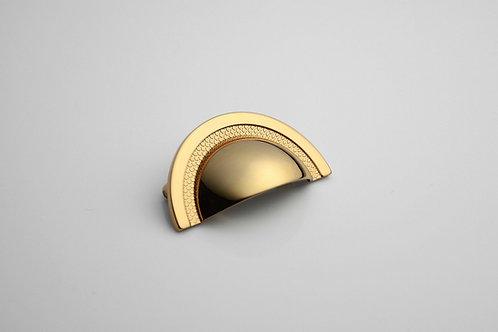 Puxador Zen Shell 48mm Red Gold