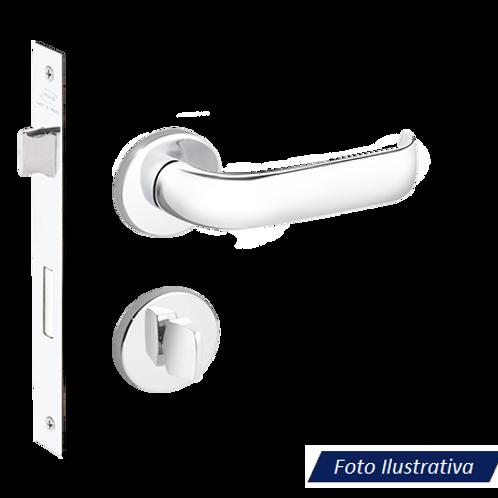 Fechadura Imab Duna II Chave Banheiro Cromada 40mm