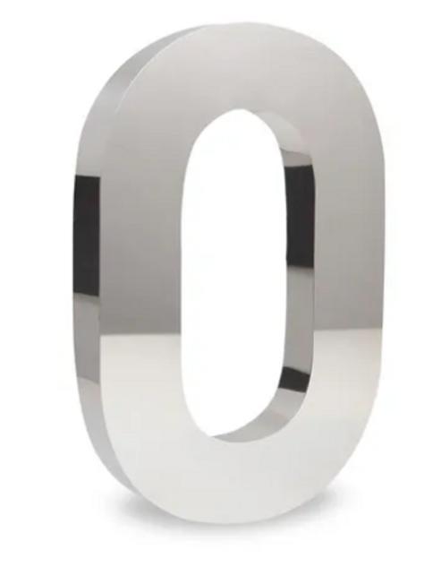 Número 0 de Aço Inox Polido 15cm