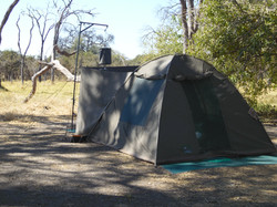 Camping in Moremi Game Reserve