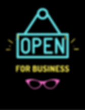 Blue Yellow Open Sign Bold Business and