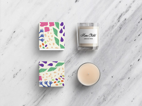 Moon Child Candles Packaging Design